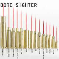 US Red Dot Laser Brass Cartridge Bore Sighter Boresight CAL For Scope Hunting