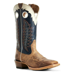 Ariat Men's Dusted Wheat & Navy Real Deal Boots 10029694 NEW w/ Box US Sz 12 NIB