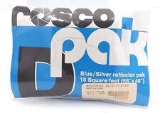 "Rosco Pack Blue/Silver Reflector Pak 18 Square Feet ( 56"" x 48"")"
