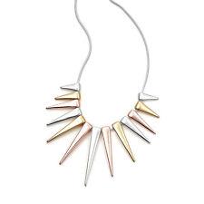 Triple Tone Point Necklace