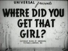 WHERE DID YOU GET THAT GIRL?  Leon Errol, Helen Parrish 1941  region free DVD