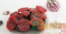 Aquarium Fish Tank Silicone Sea Anemone Artificial Coral Ornament SH213 red