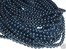 AL824 CZECH 4mm ROUND Faux PEARL Glass Beads-ROYAL BLUE (110)