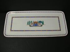 "Villeroy & Boch Vitro Porcelain Long 13 1/2"" Rectangle Tray Via Appia"