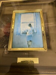 A GIRL AT THE WINDOW BY SALVADOR DALI REPRINT ON FRAMED CANVAS PICTURE WALL ART