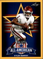 2019 Leaf Draft Football Kyler Murray RC Base & Gold Singles (Pick Your Cards)