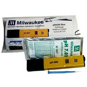 Milwaukee Pocket pH Tester with Screw-driver, Batteries, Calibration Solution