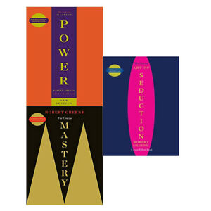 The Robert Greene Collection 3 Books Set,Concise 48 Laws Of Power & Mastery NEW