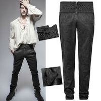Jacquard victorian pants trousers gothic dandy embroidery baroque PunkRave Men