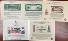 United States American Bank Note Souvenir Cards SO32-34,BEP 59,61 1983 Mint