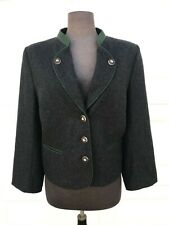 Lodenfrey Wool Winter JACKET Coat Blazer Women Austria Charcoal grey EUC