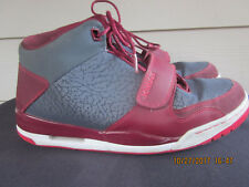 Nike JORDAN FLIGHT CLUB 90s V IV III Sneakers Gray/Fusion Red 11.5 US / 45.5 EU