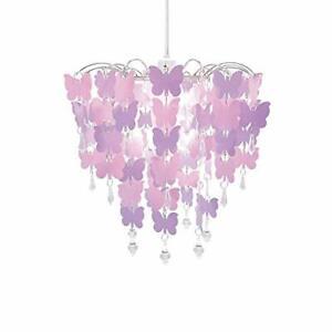 Butterflies Chandelier Children Bedroom Lamp Shade for Girls Room Decoration