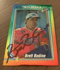 BRETT BODINE AUTOGRAPHED 1995 MAXX RACING CARD W/COA