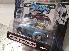 1 Muscle Machine '41 WILLYS COUPE BLUE funline custom BLOWER 1:64 scale maisto