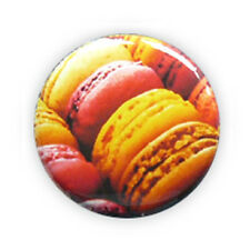 Badge MACARONS Macaron gourmandise kawaii yummy cake gourmand pop button Ø25mm