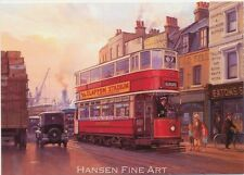 London Transport Tram Clapton Aldgate Blank Birthday Fathers Card