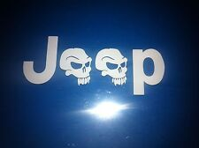 Jeep Skull Side Sticker TJ Decal You get 3 decals total choice of color