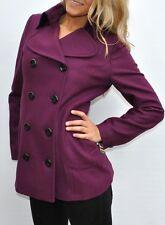 NEW Womens Tommy Hilfiger Wool Blend Coat Purple Medium NWT