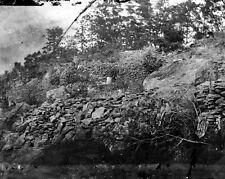 New 8x10 Civil War Photo: Breastworks of Little Round Top, Gettysburg Battle
