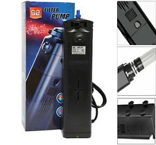 13W Aquarium UV Sterilizer Submersible Pump Filter 150 Gal Fish Tank Light Bulb