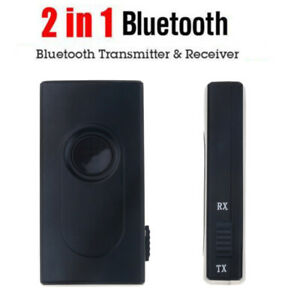 2in1 Bluetooth Transmitter Receiver Car Kit 3.5mm Stereo Wireless Music Audio