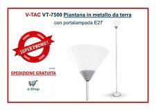 PIANTANA LAMPADA DA TERRA VT-7500 PORTALAMPADA PER LAMPADINA E27 Led
