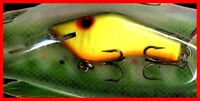 Vintage 1987 POE'S SUPER CEDAR Silver Back & Chartreuse Fishing Lure #247