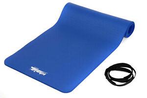 Deuser Matte blau 181x 62 x 10mm. Yogamatte, Fitness Matte,  Latexfrei, 1000g