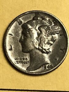 1942/1 Mercury Silver Dime FS-101 EF+ 1942 Over 41