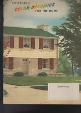 Pittsburgh Paints Color Dynamics for the Home 1947 Book