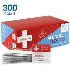 Sterile Alcohol Prep Pads (300-Pack) | Thick 2-Ply