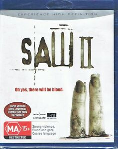 Saw 2 II - BLU-RAY All Region NEW & SEALED Uncut Version