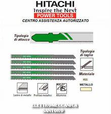 LAMA PER SEGHETTO ALTERNATIVO HSS 132 mm KIT 5 PZ TAGLIO METALLO HITACHI