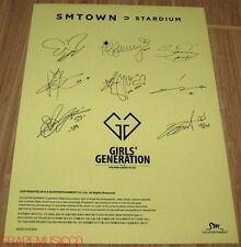 GIRLS' GENERATION SMTOWN STARDIUM SM OFFICIAL GOODS AUTOGRAPH SIGNATURE STICKER