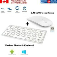 Bluetooth Wireless Keyboard & optical USB 2.4Ghz Mouse For PC LAPTOP MAC TABLET