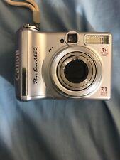 Canon PowerShot A550 7.1MP Digital Camera - Silver