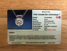 EGL Diamond Certificate/Diamond Synopsis
