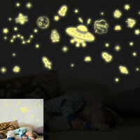 Luminous Fluorescent Wall Stickers Dark Stars Glow Stickers Rooms Decoration HS