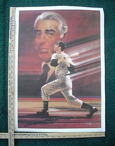 Joe DiMaggio HOF Baseball Numbered Poster Art New York Yankees B. Peak Joe D