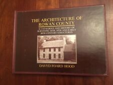 RARE 1983 Architecture of ROWAN County North Carolina, History Structures, HOOD