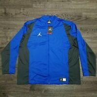 NIKE Air Jordan Flight Knit Full Zip Warmup Jacket Mens 3XL Blue Basketball
