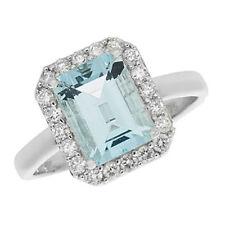 Unbranded Diamond White Gold Topaz Fine Rings