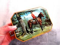 Mid Century Vintage Canadian Mountie Toffee Tin