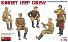 1:35 MINIART SOVIET JEEP CREW MODEL FIGURES KIT 35049 plastic model kit