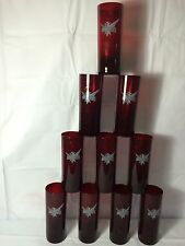 (10) Smirnoff Ruby Red Highball Vodka Tall Drink Glasses