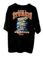 Sturgis 2004 Black Hills Rally T-shirt. Men's XL.100% Cotton. 2-sided Graphics.