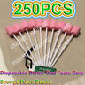 250Pcs Hi-Q Pink Oral Foam Swabs Mouth Cleansing Tooth Lollipop Swab Sticks Swab