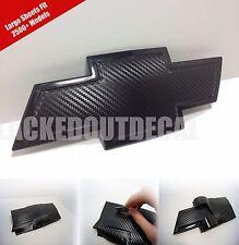 LARGE Silverado Carbon Fiber Universal Chevy Bowtie Vinyl Sheets Emblem Overlay
