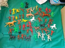 Lot of 53PC Cowboys, Indians & Horses Many Colors Some Signed Tim-mee & Marx